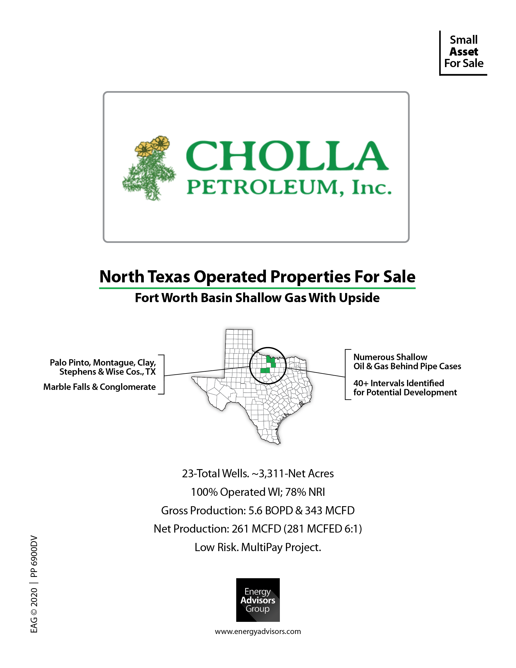 CHOLLA SELLING PRODUCTIVE GAS LEASES
